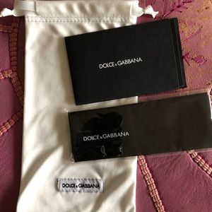 Dolce & Gabbana sunglasses case & cloth